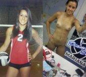 Cute volleyball teen girl