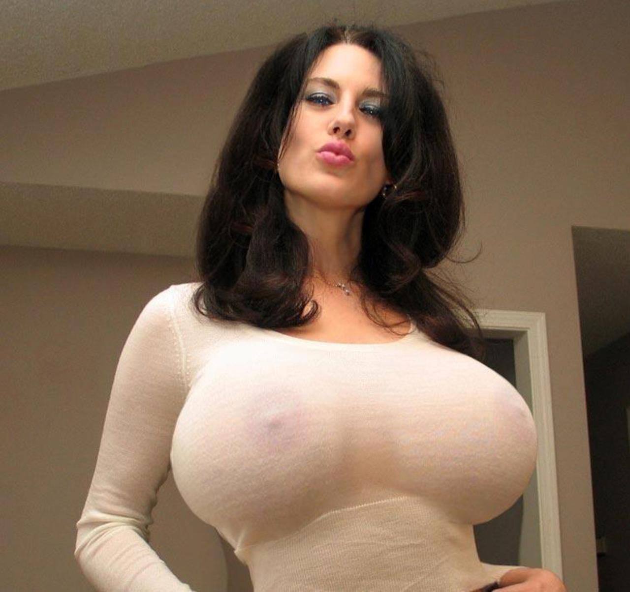 Shirt tight white big tits