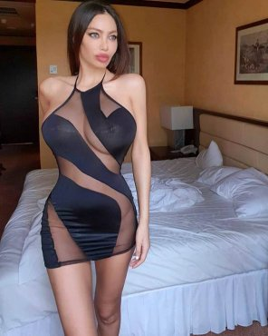 amateur photo Sara in a Naughty Dress