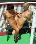 amateur photo Pussy grinding at the tennis court