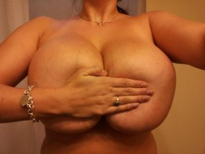 amateur photo Her Hand Bra Can Only Cover So Much