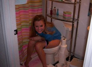 amateur photo Caught on the potty