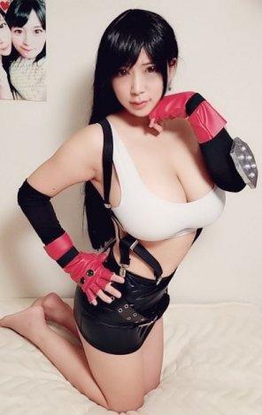 amateur photo Marina Yuzuki Tifa cosplay