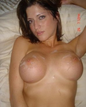 amateur photo fresh cum on breast