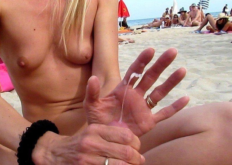 handjob Porn Photo