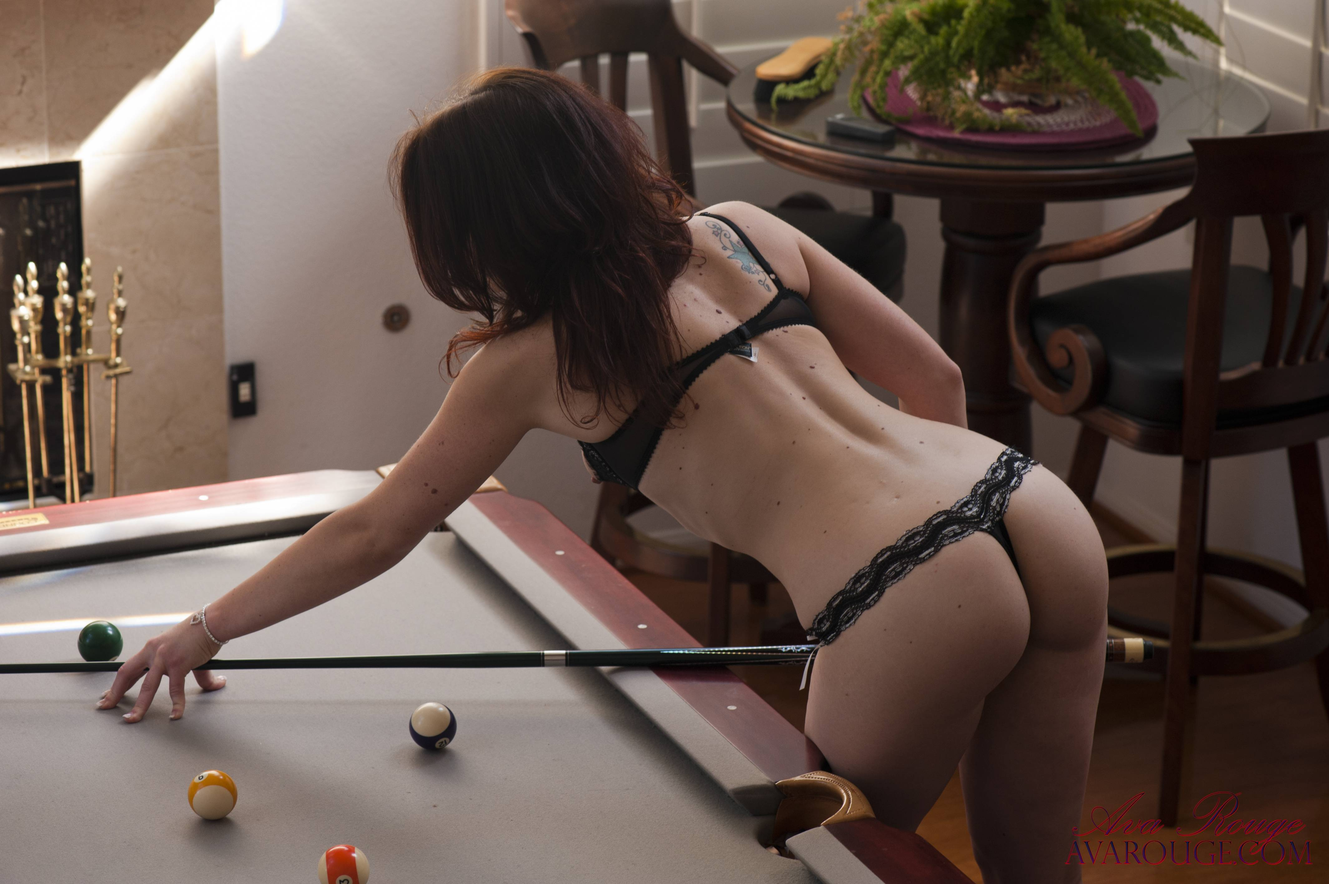 Red head sex underwear pool