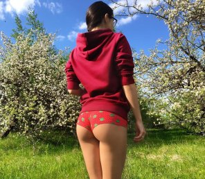 amateur photo Apple bottom