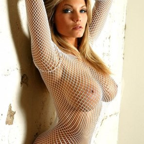 amateur photo White fishnet