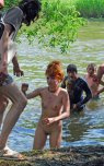 amateur photo Naked Russian red head at a music festival