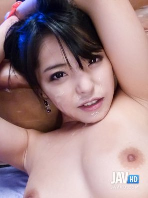 amateur photo Asian beauty facial