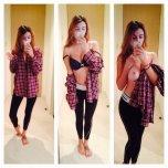 amateur photo Girl Selfies Her Shirt Off
