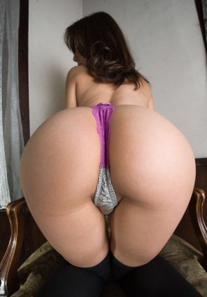 amateur photo Purple thong