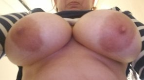 amateur photo Took this at work. do you think this will drive the boys nuts today and happy titty Tuesday