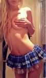 amateur photo Nothing but a skirt