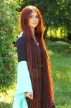 amateur photo Super long red hair