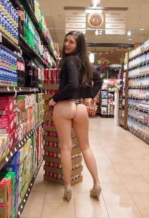amateur photo Ass in the soda isle.