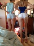 amateur photo Showing off their new shorts