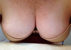 amateur photo What do you think of my wife's luscious tits?