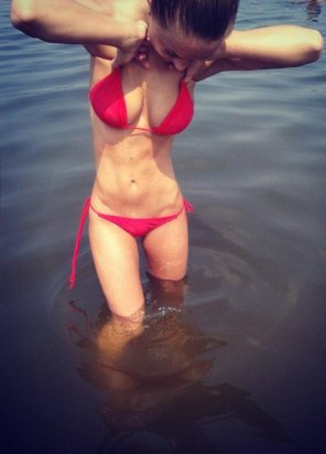amateur photo Red Bathing Suit