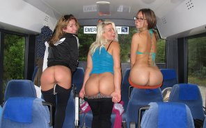 amateur photo Butts On A Bus