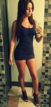 amateur photo Red and black now in a tight dress