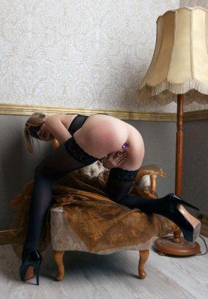 amateur photo Plugged blonde