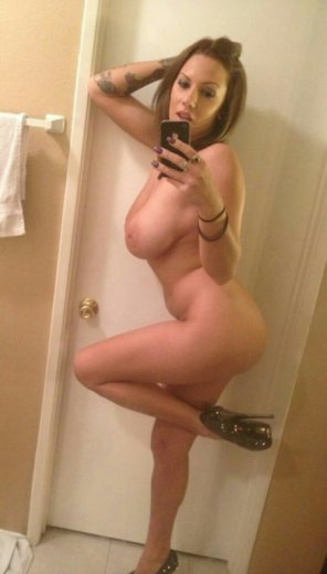 amateur photo High heels selfie