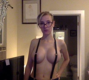 amateur photo Suspenders can't contain