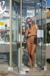 amateur photo Naked in a phone booth