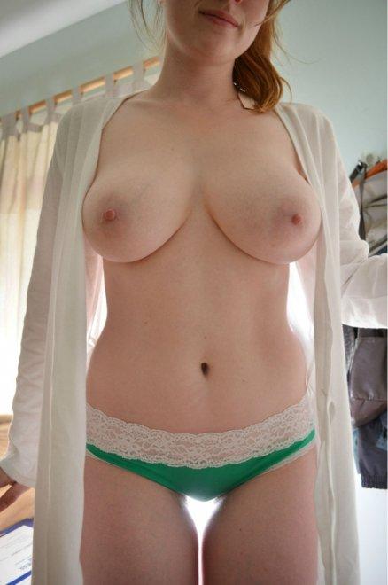 Busty Redhead Porn Photo