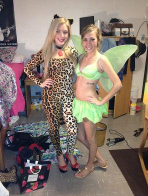 amateur photo Leopard and Tinkerbell