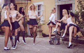 amateur photo Catholic school girls rule.