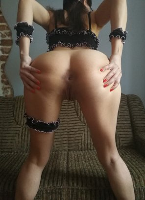 amateur photo Spreading Her Cheeks