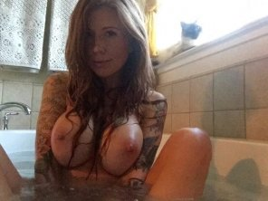 amateur photo Bath time with pussy.