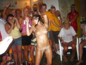 amateur photo Naked at a party