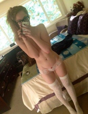 amateur photo A Nice Gap and Thigh Highs