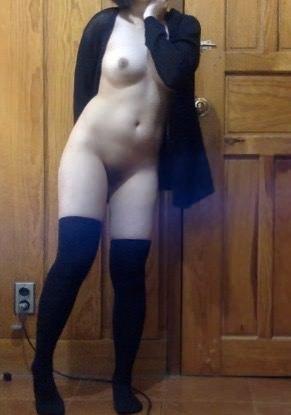 amateur photo Do you like my socks?