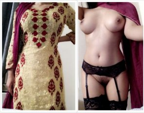 amateur photo Hey! Look what was under my Eid outfit!! [F]