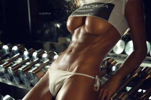 amateur photo Excellent abs