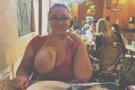 amateur photo having dinner