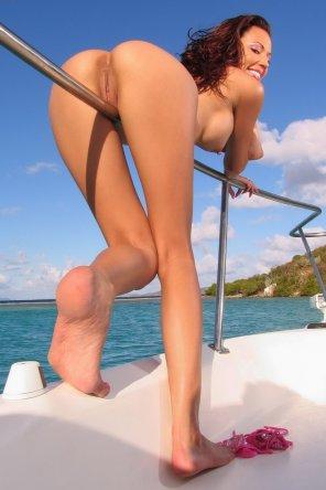 amateur photo On a boat!