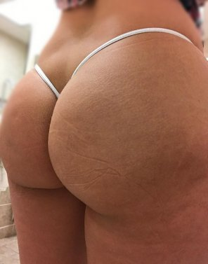 amateur photo [F] Thong of the day!!! Today I have on a new silver sparkly micro thong, enjoy!!!