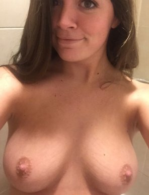amateur photo Ready [f]or my tits to be covered in cum tonight