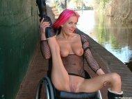 UK - Leah Caprice who started making disabled porn after she broke her back.