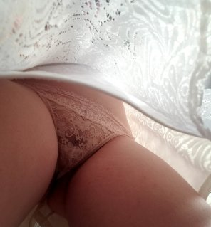 amateur photo A peek up my skirt