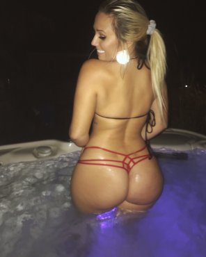 amateur photo In the hot tub