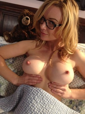 amateur photo Kayden Kross with her cute little teddy bear