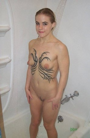 amateur photo Cute showergirl.