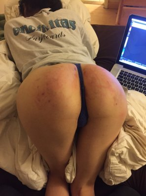 amateur photo Spanking punishment I received.