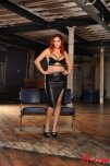 amateur photo Lucy Collett dressed in leather